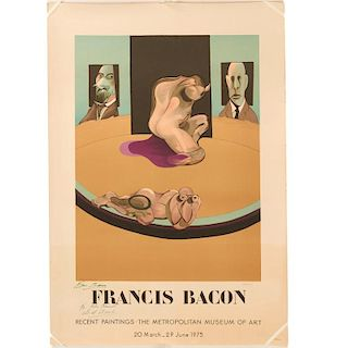 Francis Bacon, signed poster