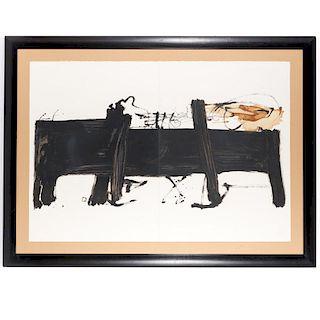 Antoni Tapies, large format etching
