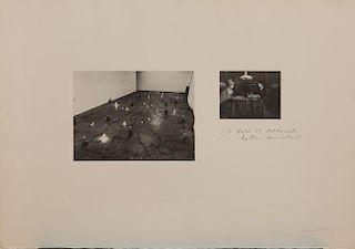 JANNIS KOUNELLIS (b. 1936): LO FARO IL LETTERATO, TUTTA LA VITA; AND ELLETRA