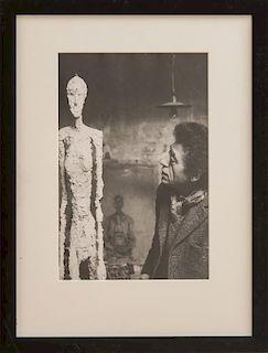 RENÉ BURRI (1933-2014): PORTRAIT OF ALBERTO GIACOMETTI; AND GIACOMETTI SCULPTURES