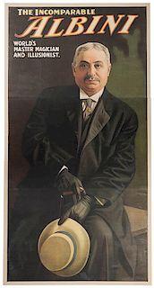 The Incomparable Albini. World's Master Magician and Illusionist.