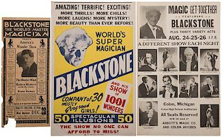 Pair of Blackstone Window Cards, and a Herald.