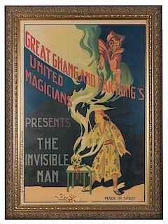 Chang and Fak Hong's United Magicians. Trio of Magic Posters.