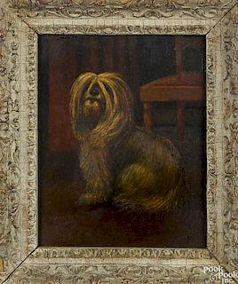 Three oil on board dog portraits
