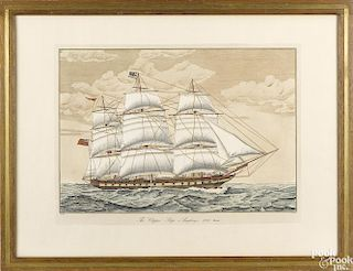 Color engraving of the Clipper ship, Anglesey