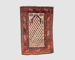 Kazak Ivory Ground Prayer Rug, Caucasus, late 19th century