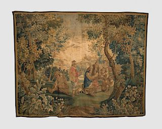 French Genre Tapestry Panel, 18th century