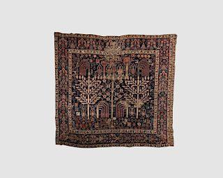Persian Shrub Carpet Fragment, ca. 1800