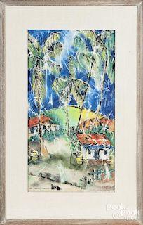 Watercolor of St. Croix Virgin Islands
