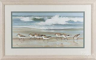 Jaqueline Penney print of shorebirds
