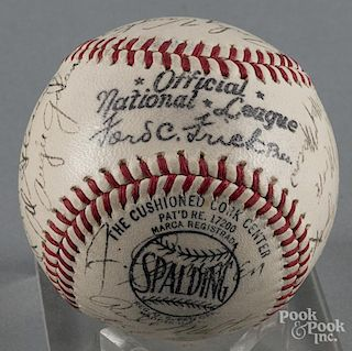 1943 Brooklyn Dodgers team signed baseball