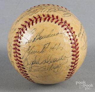 1951 Boston Red Sox team signed baseball