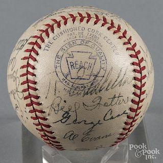 1942 Washington Senators team signed baseball