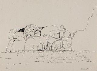 "Philip Guston (1913-1980) ""Sea"", 1980"