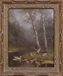 DAVID ADOLPH CONSTANT ARTZ (1837-1890): DUCKS IN STREAM
