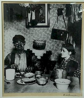 Bill Brandt (1904-1983), photograph, Northern Brian Coal Miner Eating His Evening Meal 1937, signed lower right: Bill Brandt,