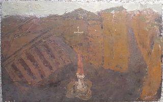 William G. Congdon Italian Modern Oil Painting
