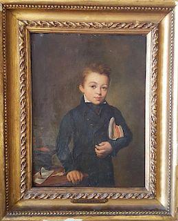 Étienne Bouchardy  (French, 1797-1849) Portrait of boy