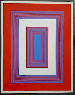 Richard Anuszkiewicz (1930 - ) OpArt Signed Print
