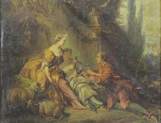 "After Boucher. 18th/19th C. Oil on Canvas. ""Charms"