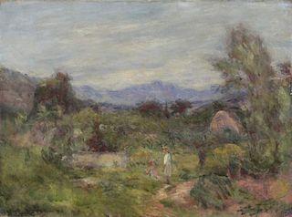 Manner of Renoir. Impressionist Oil on Canvas.