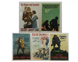 Lot of 5 World War I Posters.