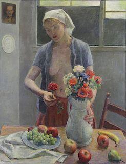 "BRACKMAN, Robert. Oil on Canvas ""Life and Still"