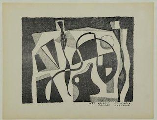 VYTLACIL, Vaclav. Lithograph. Still Life