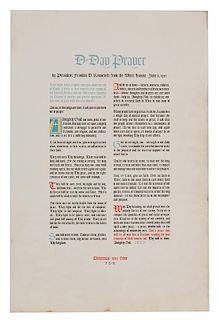 FDR D-Day Prayer Christmas Broadside.