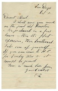 """FDR Autograph Letter Signed As President, """"Pa,"""" to His Son."""