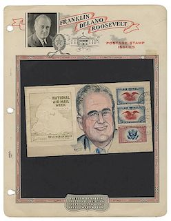 """Original Cartoon Artwork of FDR, from the President's Own """"Bouquets & Brickbats"""" Collection."""