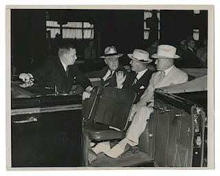 Three Press Photos of FDR and Calvin Coolidge.