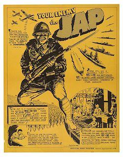 "Anti—Japanese War Propaganda Poster. ""Your Enemy the Jap."""