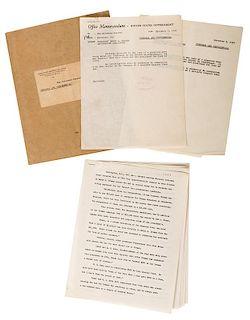 J. Edgar Hoover Initialed FBI Private Memorandum Regarding Truman.