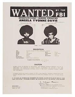 Angela Davis. Wanted By The FBI.