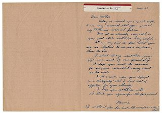 """Lee Harvey Oswald Autograph Letter Signed, """"Lee XX,"""" from His Wife to His Mother. Warren Commission Exhibit No. 185."""