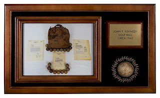 A Golf Ball Owned by John F. Kennedy, Taken from His Golf Tote Bag. Elijah Jones Collection.
