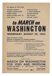A 1963 March On Washington Handbill.