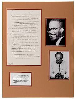 """Corrected Manuscript Page from """"The Autobiography of Malcolm X."""""""