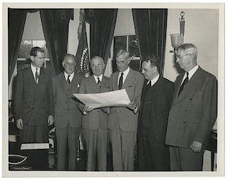Photograph of Harry Truman.