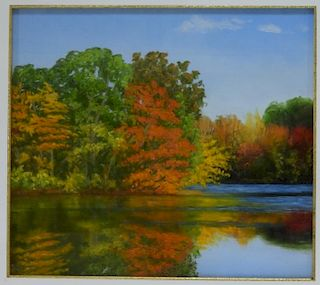 Stephanie Parker Pastel Fall Landscape Painting