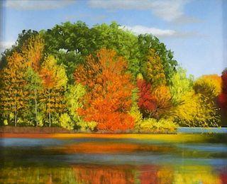 Stephanie Parker Fall Landscape Pastel Painting