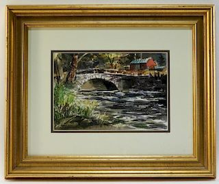 W. Spencer Crooks Kedron Bridge Vermont Painting