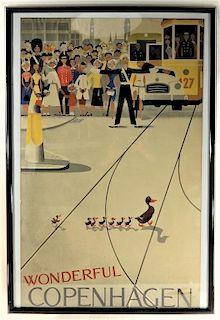 Viggo Vagnby Wonderful Copenhagen Travel Poster