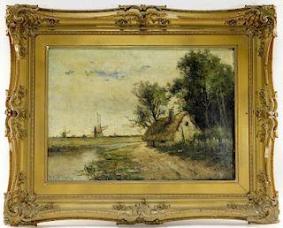 William H. Hilliard O/C Tonal Landscape Painting