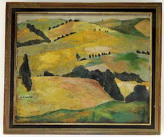 Marie-Rose Martin Paris Impasto Landscape Painting