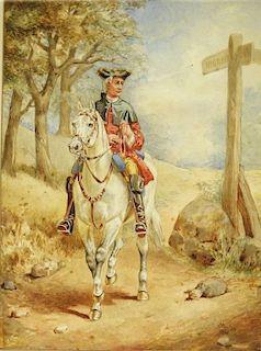 Joseph Payton Romanticism Genre Horseback Painting