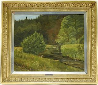 Carl Hornung-Jensen O/C Danish Landscape Painting