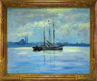 Ninno Pippa Tonal Impressionist Coastal Painting