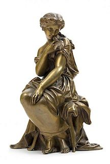* After Mathurin Moreau, (French, 19th Century), Allegorical Figure